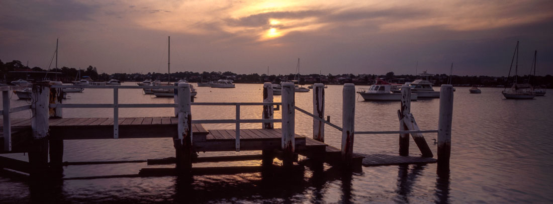 Sunset at Lilyfield   Hasselblad XPan, 45mm   Kodak Ektachrome E100
