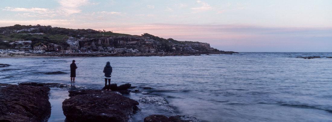 Fishing at Little Bay | Hasselblad XPan, 45mm | Kodak Ektachrome E100