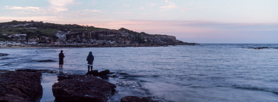 Fishing at Little Bay | Hasselblad XPan, 45mm | Kodak Ektachrome E100