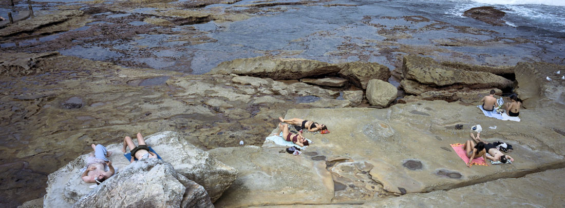 Maroubra Rock Pool | Hasselblad XPan, 45mm | Kodak Portra 400