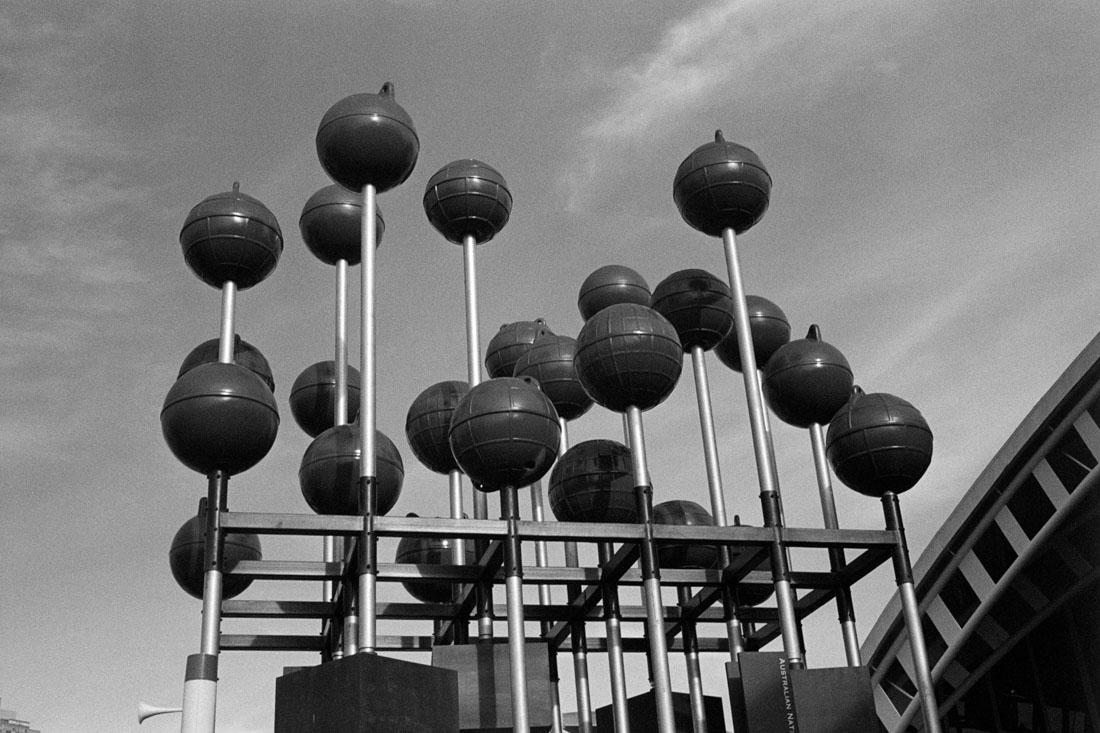 Ball sculpture | Prakti | Kodak Tri-X 400