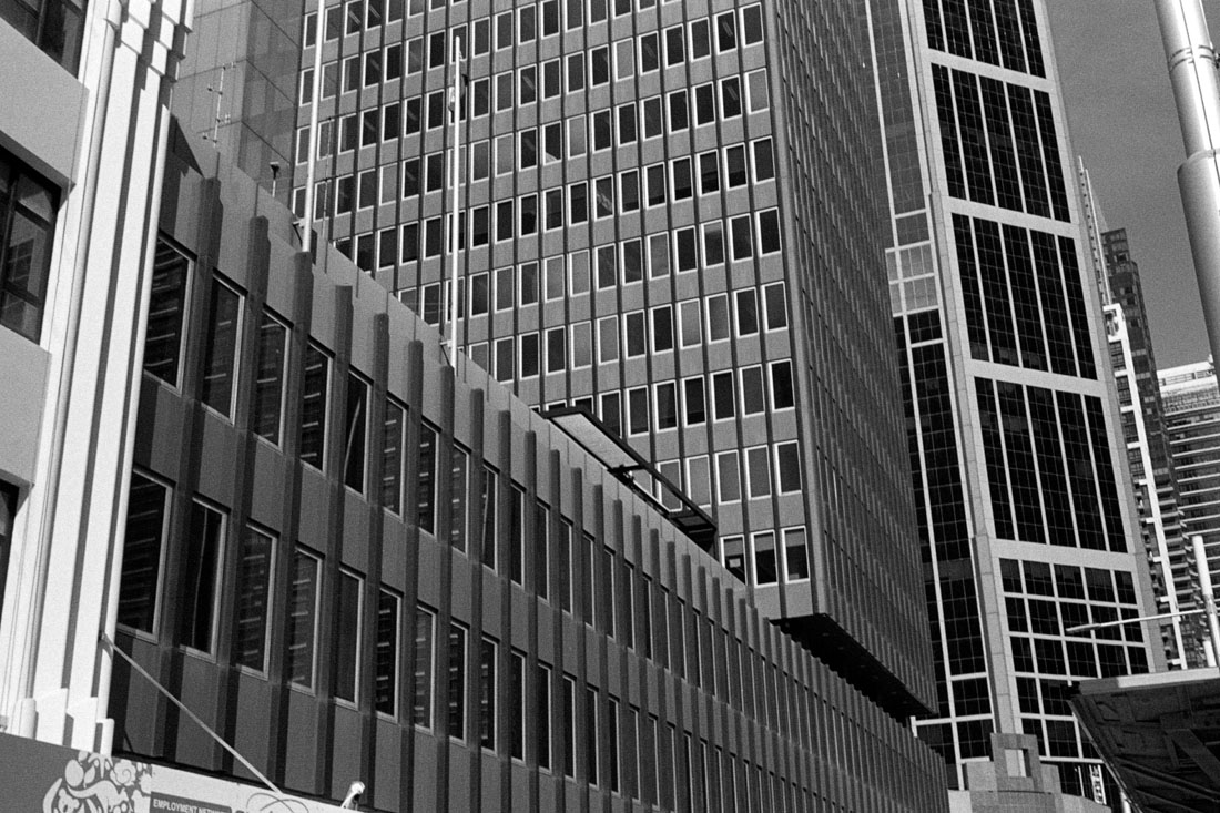 Sydney Buildings   Prakti   Kodak Tri-X 400
