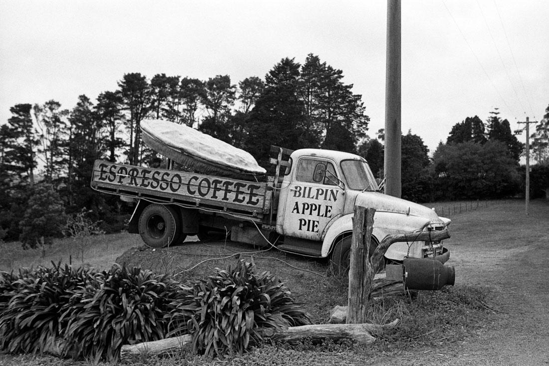 Bilpin Coffee Shop truck, NSW | Nikon FM2n | Nikkor 35mm f/2.8 Ai | Ilford HP5+ 400