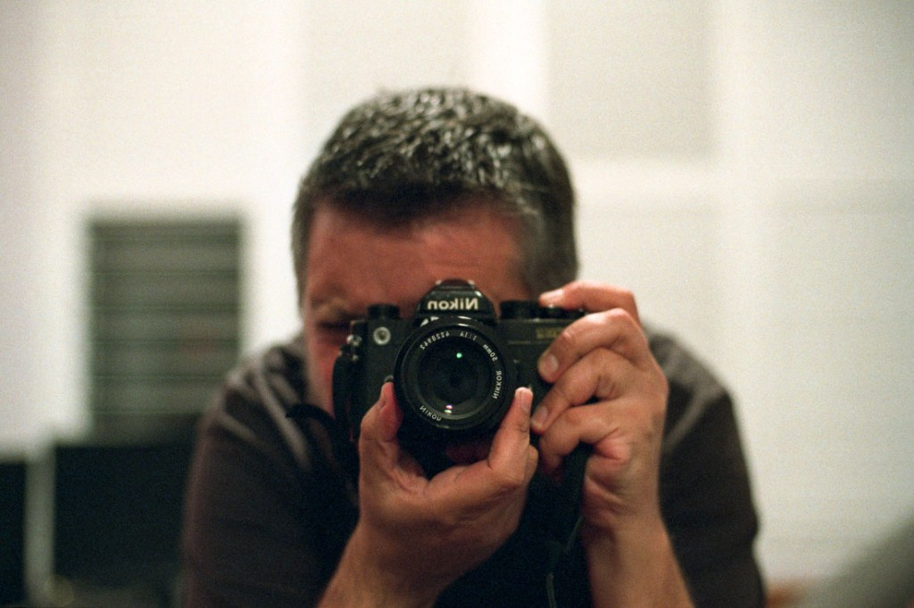 FM2n selfie | Nikon FM2n | Nikkor 50mm f/1.4 Ai | Fujifilm Superia Venus 800