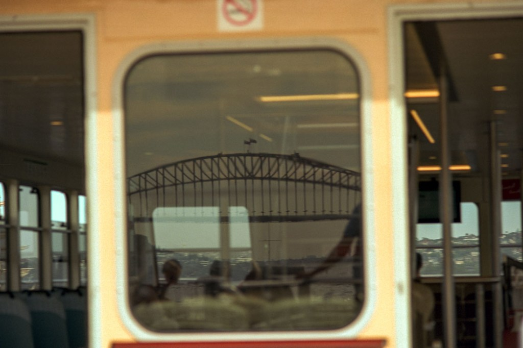 Sydney Harbour Bridge reflection | Nikon FM2n | Nikkor 80-200mm f/4.5 N Ai | Kodak Ektar 100