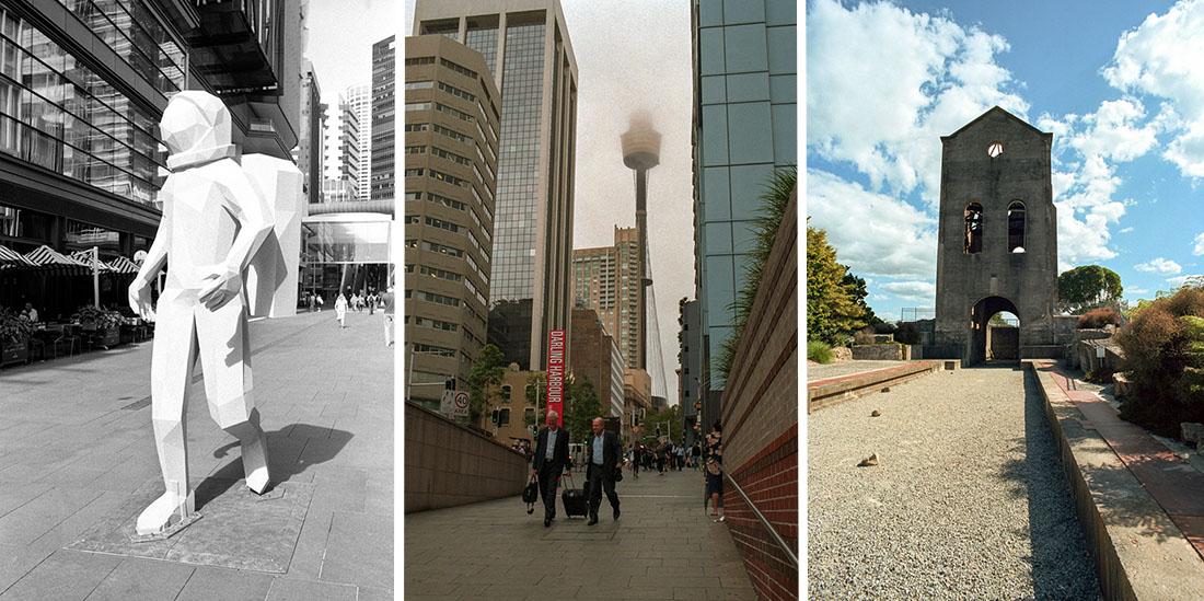 Left: Space Man |Nikon FM2n | Nikkor 35mm f/2.8 Ai | Kodak Double X 200 // Middle: Foggy Sydney | Nikon FM2n | Nikkor 35mm f/2.8 Ai | Fujifilm Superia Venus 800 // Right: Martha Mine, Waihi, NZ | Nikon FM2n | Nikkor 20mm f/4 Ai | Kodak Portra 400