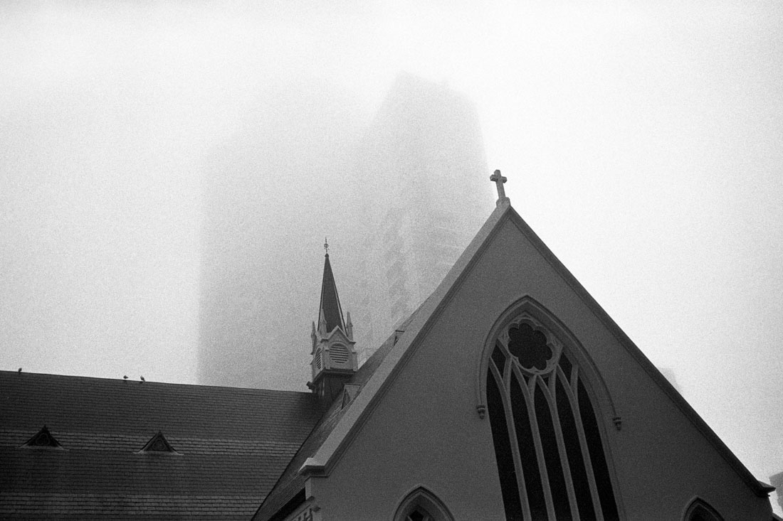 Fog in Auckland | Nikon L35AF | Ilford HP5 Plus @ EI 800