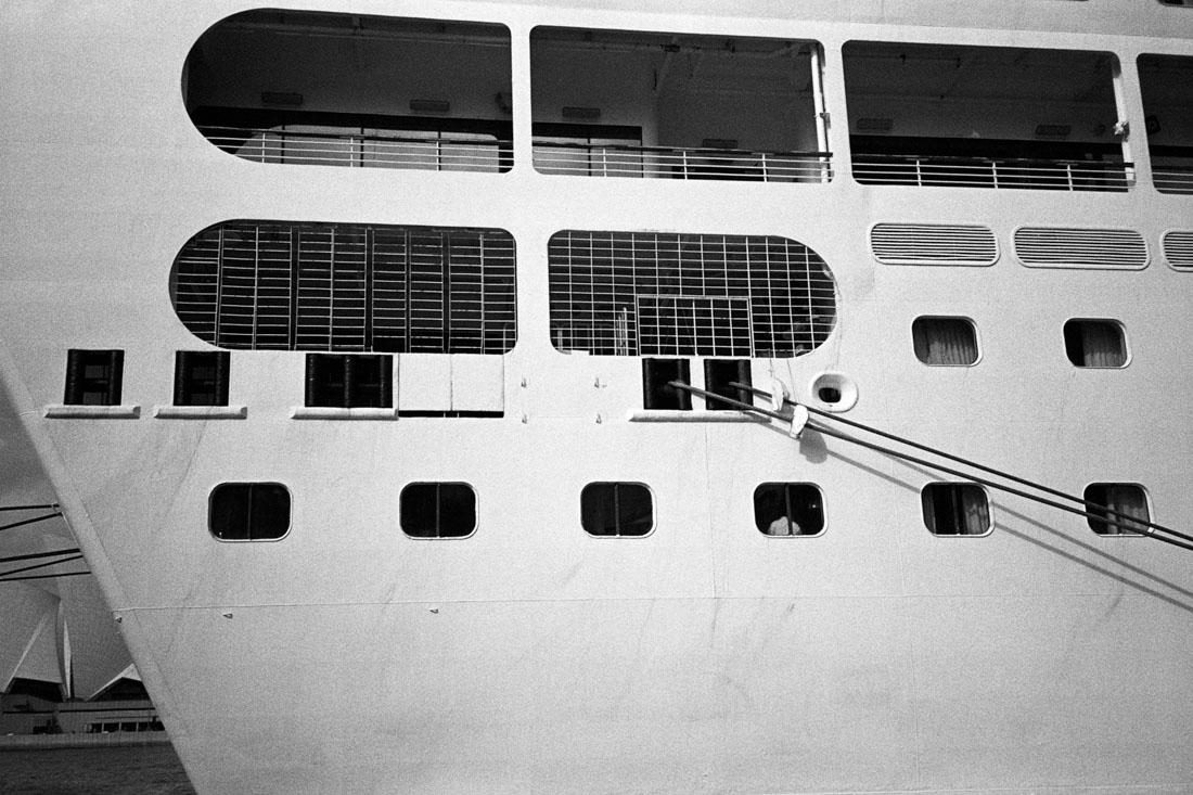 Cruise ship | Nikon L35AF | Kodak Tri-X 400