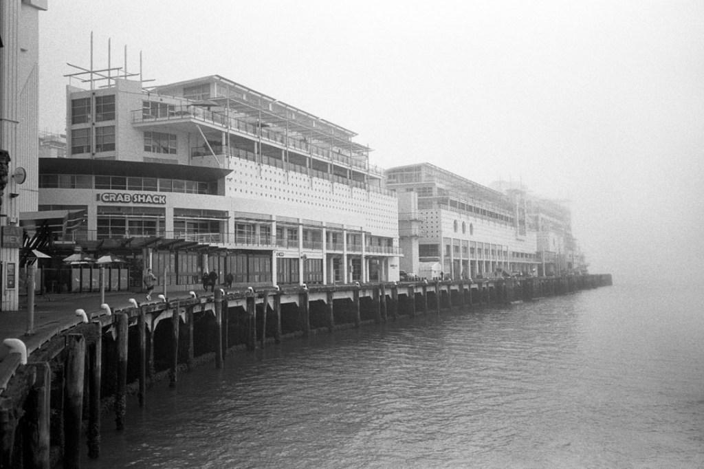 Fog, Princes Wharf, Auckland | Nikon L35AF | Ilford HP5 Plus @ EI 800