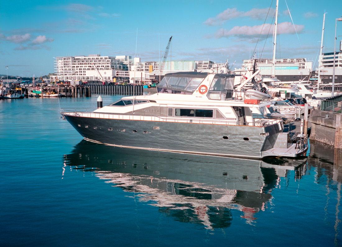 Reflected boat | Fuji GS645S | Kodak Portra 400