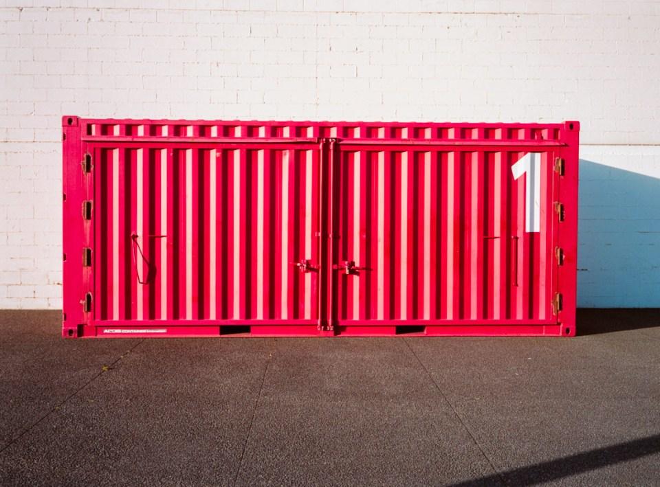 Shipping container | Fuji GS645S | Kodak Portra 400