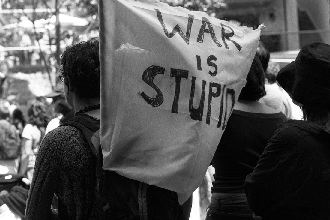 Anti Afghanistan War protest, Sydney, 2001 | Nikon F5 |Ilford Delta Professional 100