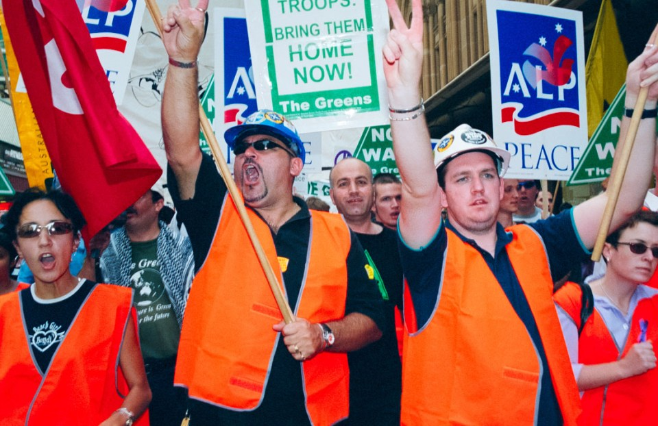 Anti Iraq War protest, Sydney, 2003 | Nikon F5 | Fujifilm Press 800
