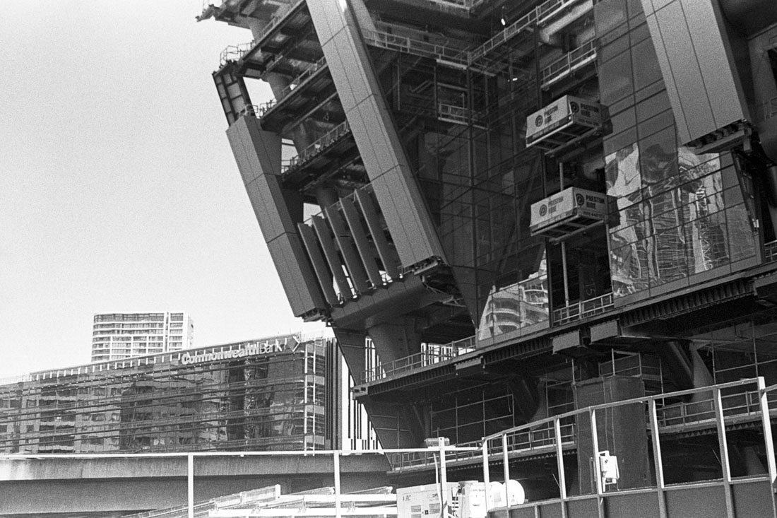 Sydney W Hotel construction | AGFA Karat 36 | Kodak Tri-X 400