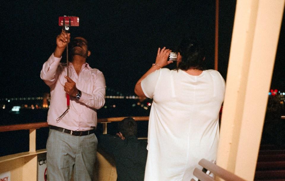 Selfie on the ferry | Leica M3 | Summicron 5cm f/2 DR | Fujifilm Natura 1600