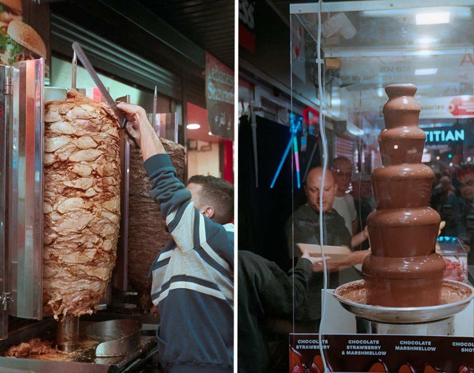 Food stalls | Leica M3 | Summicron 5cm f/2 DR | Fujifilm Natura 1600