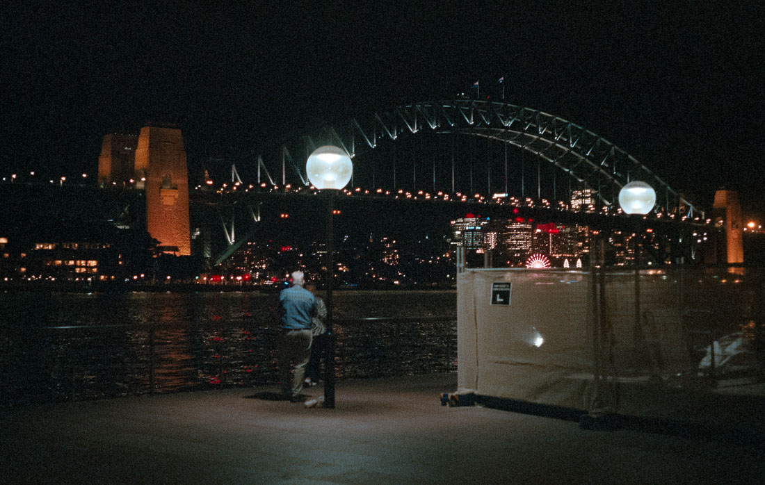 Enjoying the Harbour Bridge view | Leica M3 | Summicron 5cm f/2 DR | Fujifilm Natura 1600