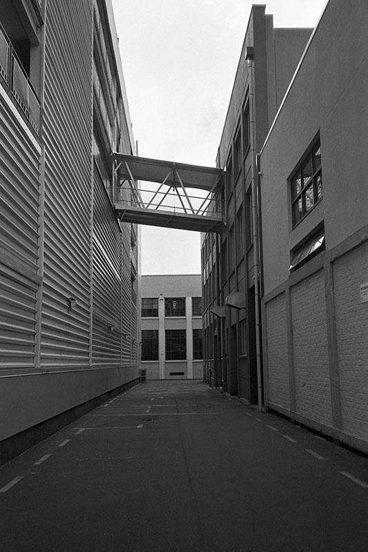 Lane with bridge | Nikon RD2 | Ilford FP4 Plus
