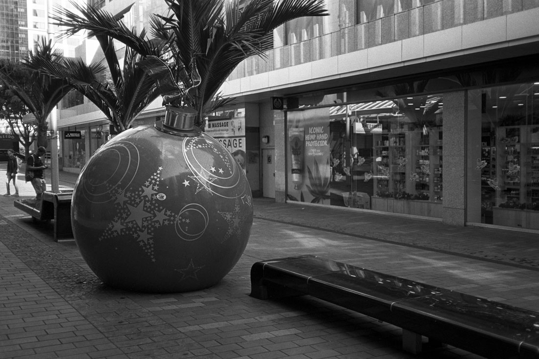 Giant Christmas bauble | Nikon RD2 | Ilford FP4 Plus