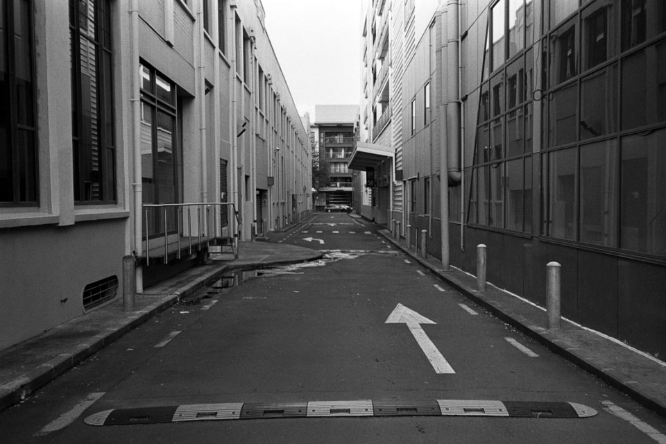 Alley | Nikon RD2 | Ilford FP4 Plus
