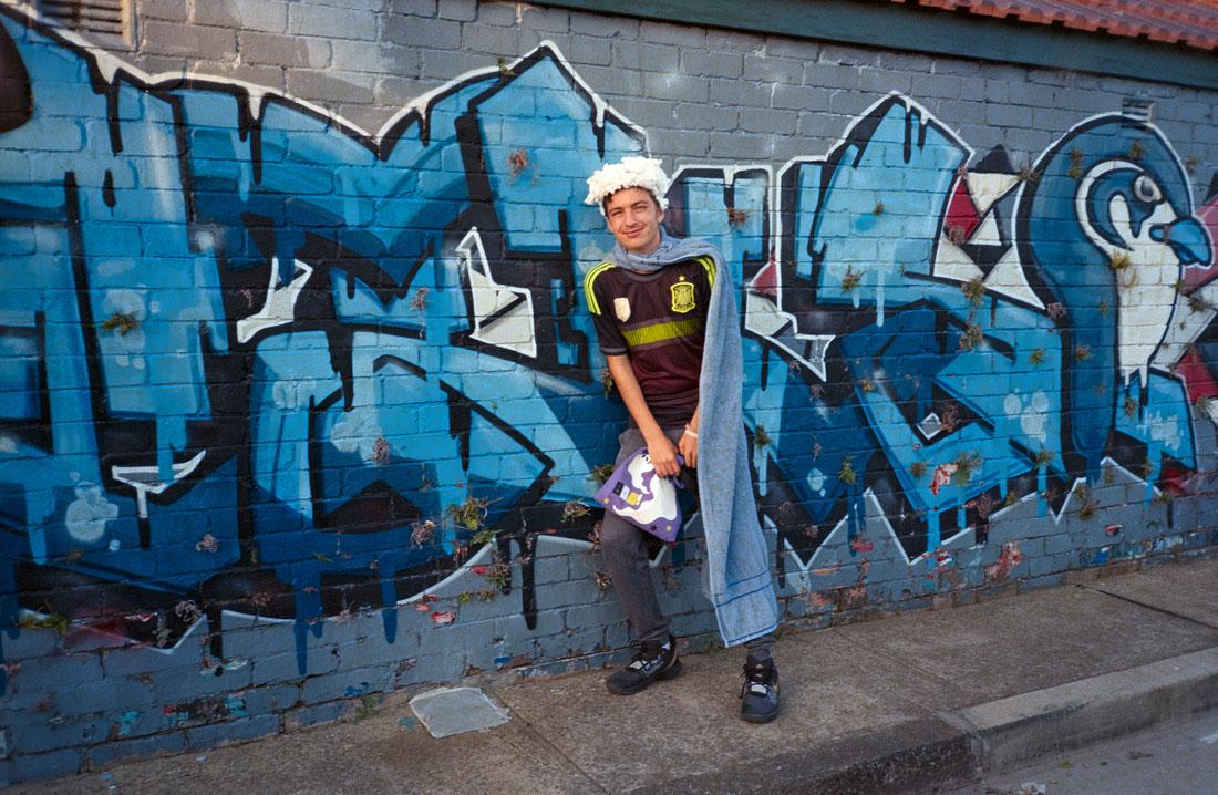"Alec's ""interesting"" Halloween costume (on a bet) | Nikon RD2 | Kodak Ultramax 400"