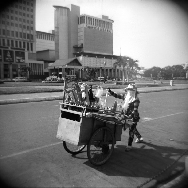 Street Food Vendor, Phnom Penh, Cambodia | Holga 120N | Kodak Tri-X 400