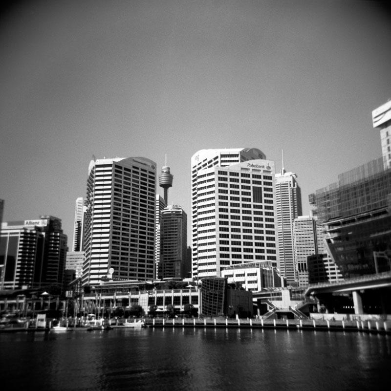 Darling Harbour, Sydney | Holga 120N | Kodak T-Max 100