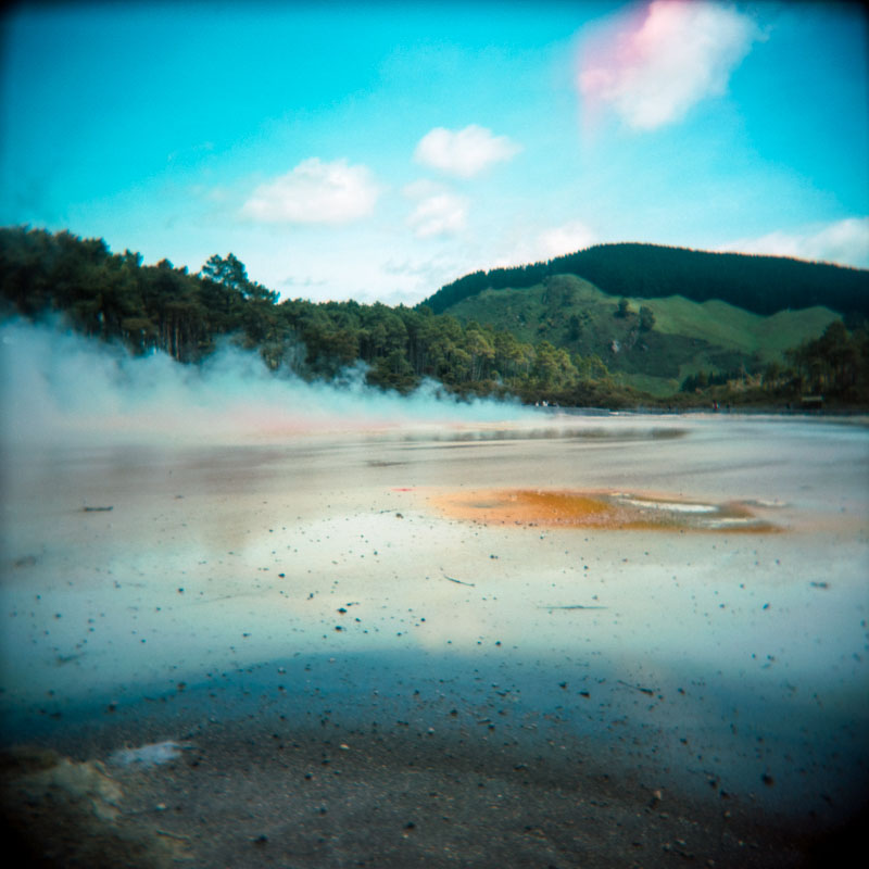 Wai-o-Tapu, Rotorua, New Zealand | Holga 120N | Kodak Portra 160 VC