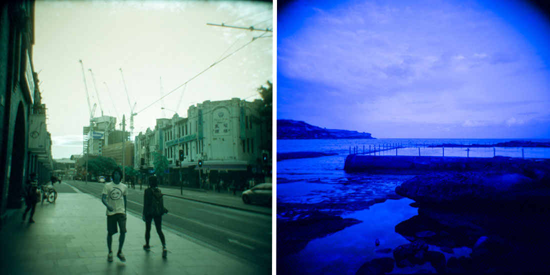L: Ultimo, R: Malabar, Sydney   Holga 120N   Lomography Lomochrome L: Turquoise, R: Purple