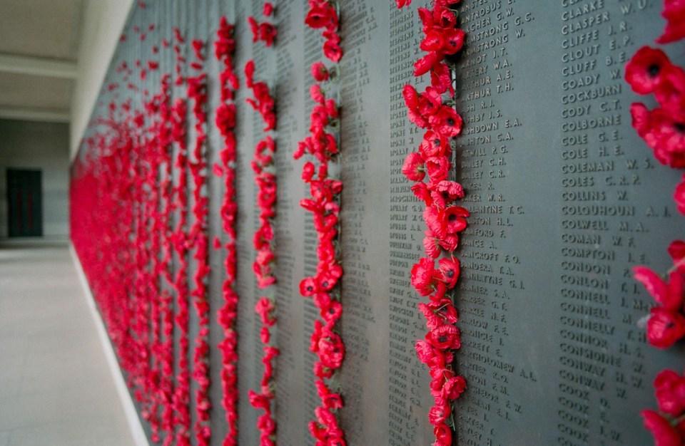 Poppies at Australian War Memorial | Nikon F3 | Nikkor 28mm f/2.8 Ai | Kodak Portra 400