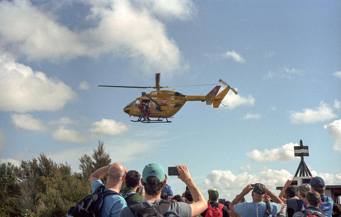 Helicopter rescue phone photography | Leica M3 | Leitz Summicron 5cm f/2 DR | Kodak Portra 400