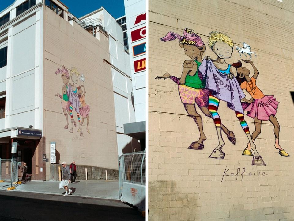 Alley mural | Topcon RE Super | Topcor 3.5cm f/2.8 RE Super | Kodak Pro Image 100