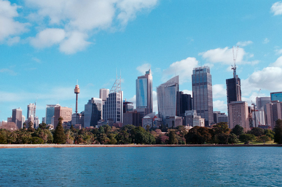 Sydney skyline | Topcon RE Auto | Topcor 3.5cm RE Auto | Kodak Pro Image 100