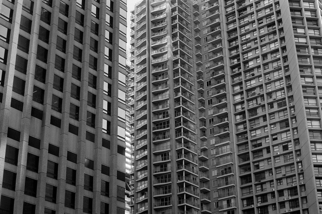 Skyscrapers | Topcon RE Super | Topcor 58mm f/1.4 RE Auto | Ilford FP4 Plus