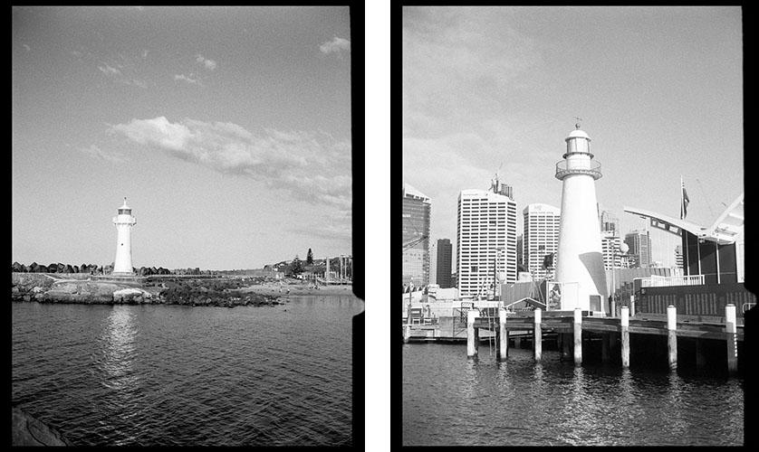 Lighthouse x 2 | Agfa Optima-Parat | Ilford FP4 Plus