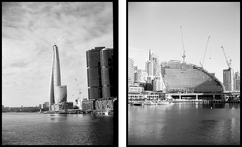 Buildings on the harbour | Agfa Optima-Parat | Ilford FP4 Plus