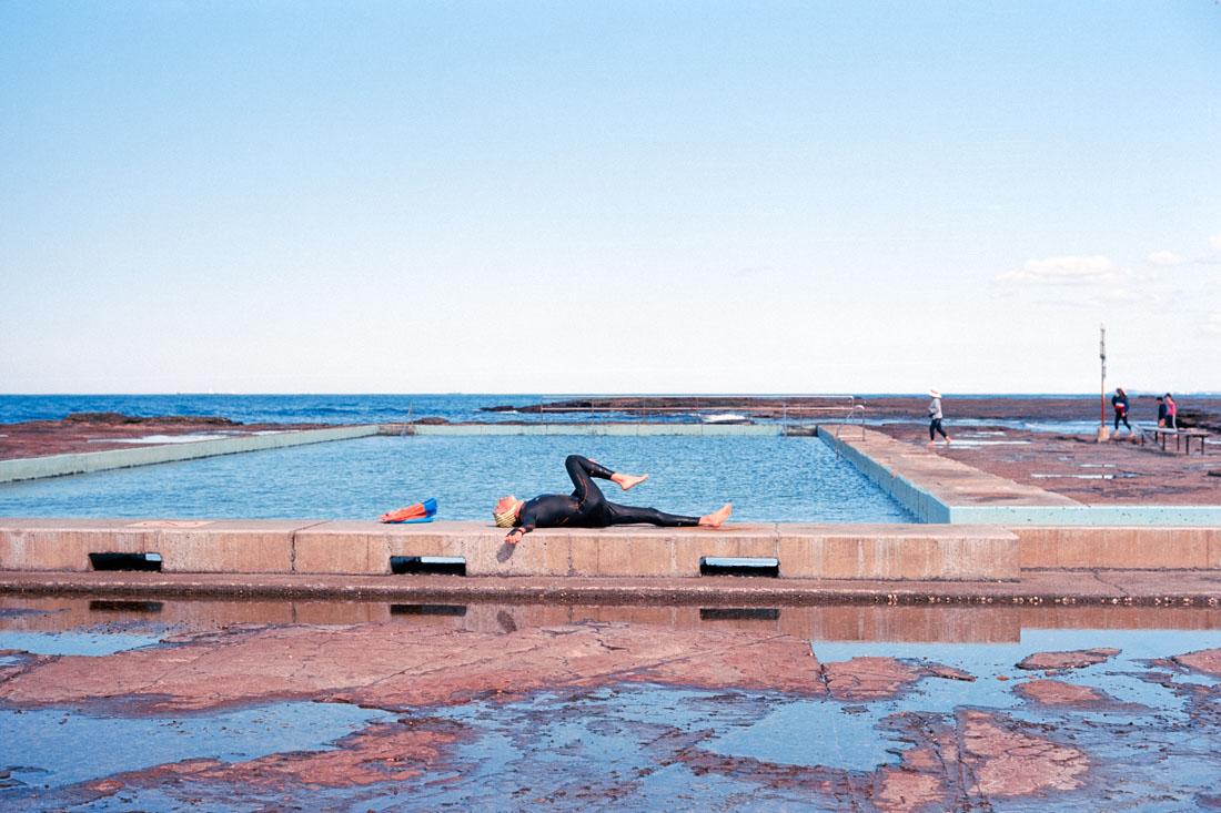 Exercise at the beach pool | Pentax Spotmatic SP | Carl Zeiss Jena Pancolar 50mm f/1.8 | Kodak Ektar 100