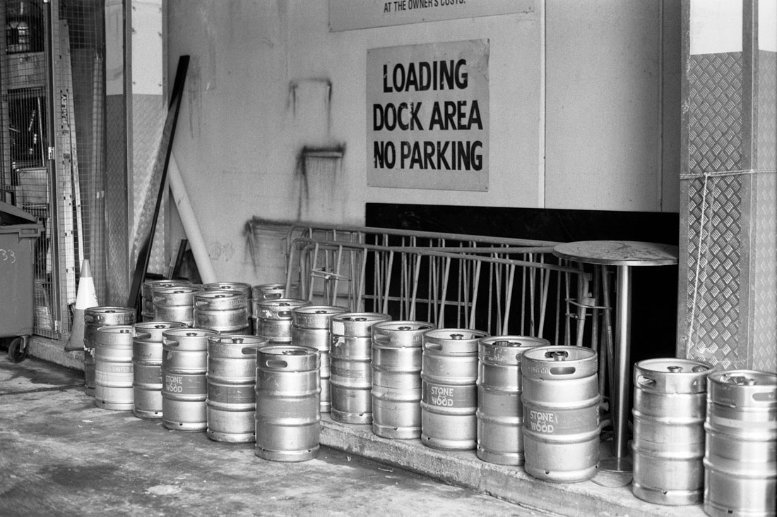 Loading dock | Pentax Spotmatic SP | Pentax Super-Takumar 50mm f/1.8 | Ilford FP4 Plus