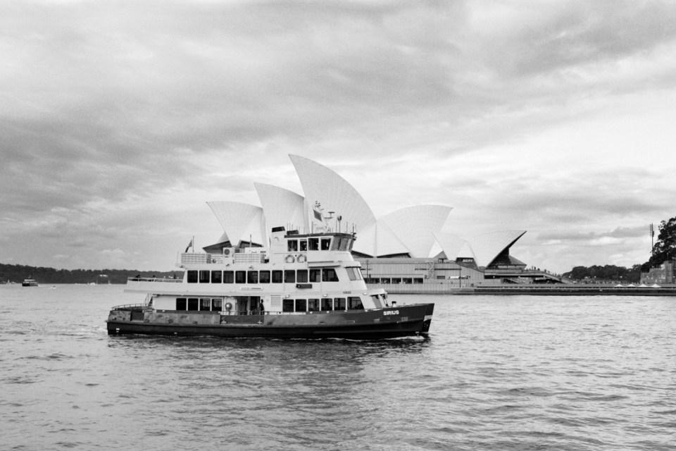 Ferry by the Sydney Opera House | Mamiya Press Super 23 | Sekor 100mm f/3.5 |Kodak Tri-X