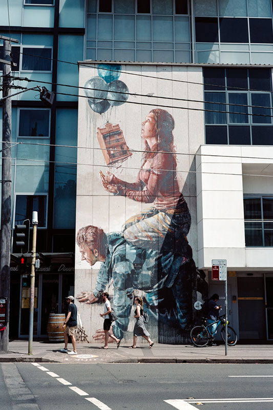 Library Mural | Mamiya Press Super 23 | Sekor Seikosha-S 65mm f/6.3 Kodak Portra 160 VC (expired 2013)