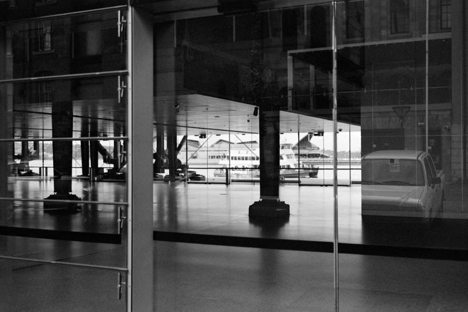 Ferry though the building | Mamiya Press Super 23 | Sekor 100mm f/3.5 | Kodak Tri-X