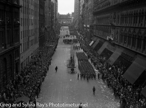 Parade for the return of the AIF's 9th Division in Sydney, April 2, 1943. (9)