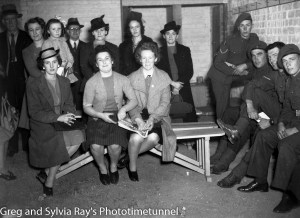 Interior of air-raid shelter outside Newcastle Police Station, Hunter Street, during a drill, September 1, 1942.