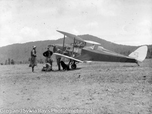 Marie Byles' 1935 expedition to the New Zealand Alps. DH Fox Moth biplane ZK-ADI.