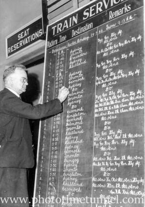 Signwriter Mr Richardson at Newcastle Railway Station (3)