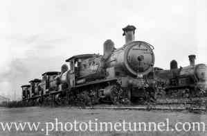 Locomotives at Broadmeadow, Newcastle, NSW. July 31, 1939. (2)