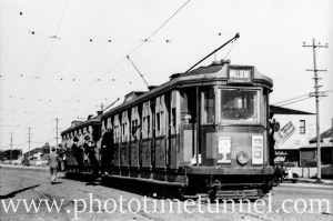 Tram at Wallsend, May 4, 1948. (3)