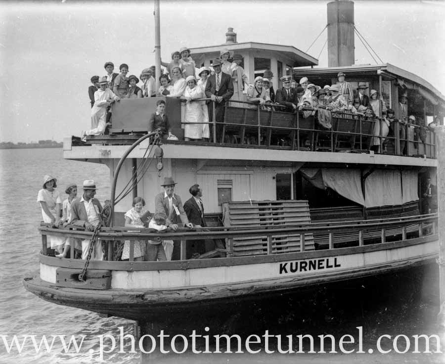 Ex-Sydney Harbour ferry Kurnell in Newcastle Harbour, circa 1934  (3) ~  Photo Time Tunnel