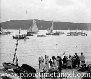 Regatta at Manly, NSW, January 29, 1912.