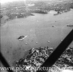 Aerial view of Sydney Harbour, NSW, circa 1940s. (2)